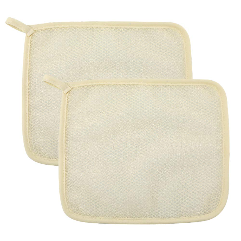 Exfoliating Body Wash Cloths Towel,2 Packs Soft Weave Bath Shower Washcloth Scrubber For Body-Remove Dead Skin,Home Spa…