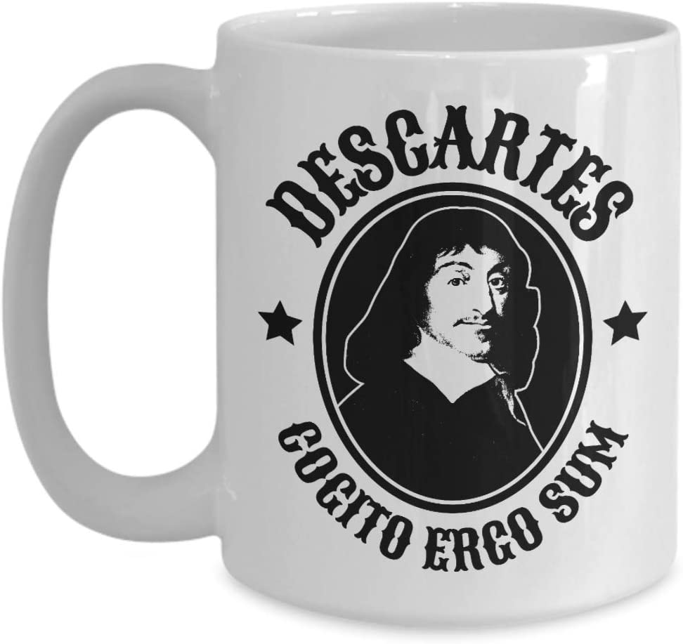 Cogito Ergo Sum Coffee Mug Rene Descartes Quote Philosophy Gift Kitchen Dining