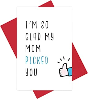 I'm So Glad My Mom Picked You Father's Day Card, Jock Greeting Card for Dad, Stepfather