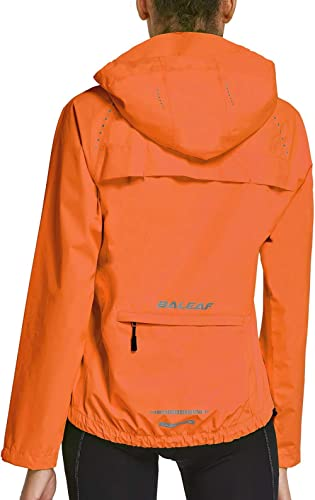 BALEAF Women's Cycling Jacket Wind Breakers Running Waterproof Windproof Raincoat Full Zip Reflective Lightweight