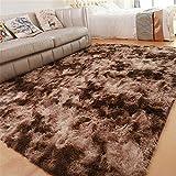 GLITZFAS Shaggy alfombras de Pelo Largo alfombras Salon alfombras de habitacion moquetas Sala de Estar para Habitación (Marrón,160 * 200cm)