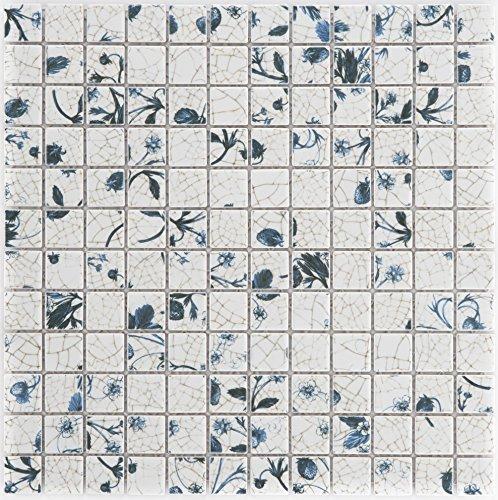 Keramische mozaïek tegels delft glanzend muur vloer douche wc keuken | 10 matten | Type: es-74266_f