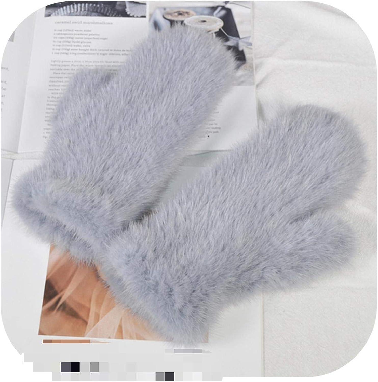 Outdoor Warm Soft Women Real Mink Gloves Max 48% OFF Knitted Oakland Mall Fur Good Girls