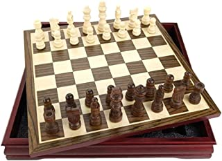 Chess Pattern Chess Pieces Wood Wood Coffee Table Professional Chess Board Family Games Chess Set Traditional Games