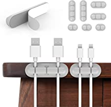 Cable Clips Cord Management Organizer, Adhesive Hooks, Wire Cord Holder Power Cords Charging Accessory Cables, Mouse Cable...
