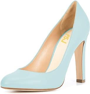 FSJ Women Elegant Round Toe Formal Pumps Slip On Office...