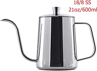 YONGYE Long Narrow Spout coffee kettle 21oz(600ml)Gooseneck Coffee Pot in Stainless Steel Perfect for Coffee Maker and Coffee Lover