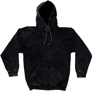 Colortone Mineral Wash Black Hoodie S-3XL Long Sleeve Pockets No Zipper Co