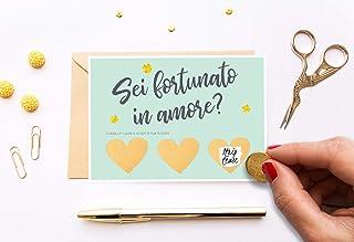 Biglietto San Valentino per lui Uomo originale Regalo di compleanno Cartolina anniversario di matrimonio coppia Italiano