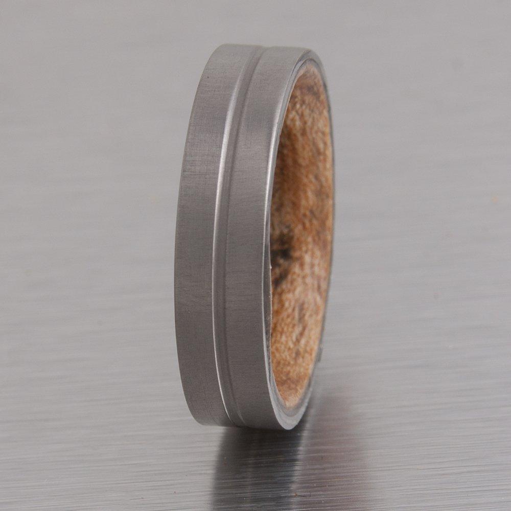 Dimalta service Gioielli Titanium Wood Ring Wedding Band Engagemen Rare Men's