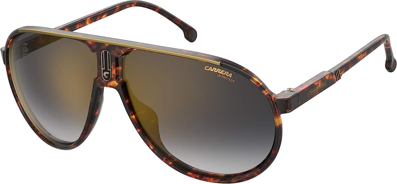 Carrera Champion65 Pilot Sunglasses, Brown/Gray, 62mm, 12mm