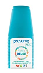 Preserve On the Go Cups (Set of 10), Aqua, 16 oz
