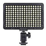 Andoer Cámara de Vídeo Luz Dimmable Fotografía Panel de la Lámpara 176 LEDs 5600K para Canon Nikon Pentax Olympus Videocámara DSLR