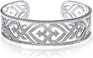 QMKJ Pequeño zirconio Diamante Mano Cadena Vintage Ajustable brazaletes para Mujer Pulsera para niñas alérgenos-Libre Salud Pulseras para Las Mujeres Alivio del Dolor para la Artritis