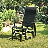 Suntime Havana Single Seat Glider Chair in Black - Garden Armchair - Metal