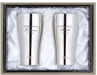 [名入れショップ Happy Gift]ペア布貼り箱入りJCY-400 サーモス THERMOS ステンレスタンブラー400mlミラー 2本