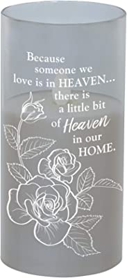 The Bridge Collection 'Heaven' Flameless LED Memorial Candle with Metallic Glass Holder