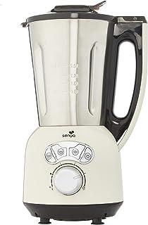 Senya SYCP-HB008C Blender Crème Chauffant INOX Cook & Ice V3, Mixeur Soupe Veloutée/Moulinée, Cuisson Vapeur, Glace Pilée ...
