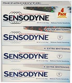 Sensodyne Maximum Strength & Extra Whitening (pack of 4) Net Wt 6.5 oz(184g)per tube