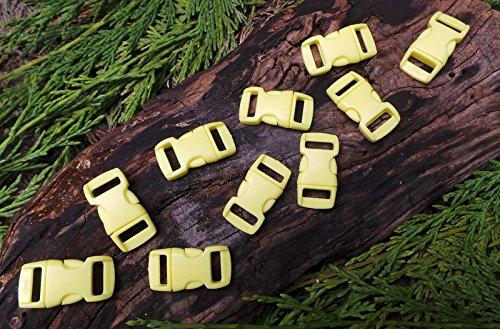 MD FlashLights Etc Ltd 10 x 10 mm 3/8 Jaune Pastel Quick Release Paracord Bracelet de Survie Boucles