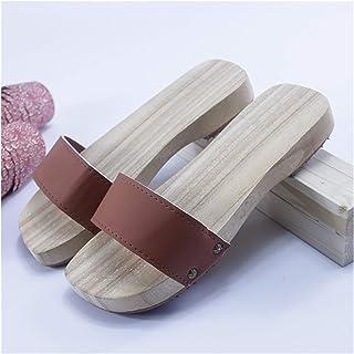 ZCPCS Zapatos de Madera Retro de Verano Tradicionales Hechos a Mano de Madera sin Madera, Zapatillas de Madera (Color : 08...