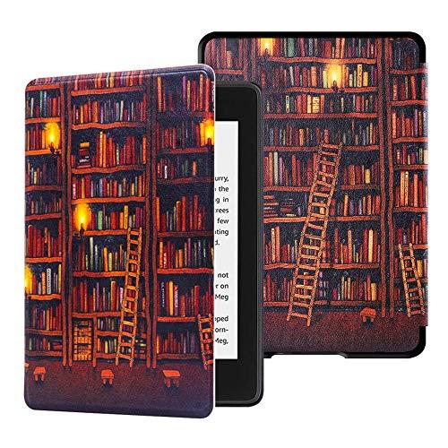 Huasiru Pittura Custodia Copertura per Kindle Paperwhite (10ª generazione - modello 2018 Solo), Biblioteca