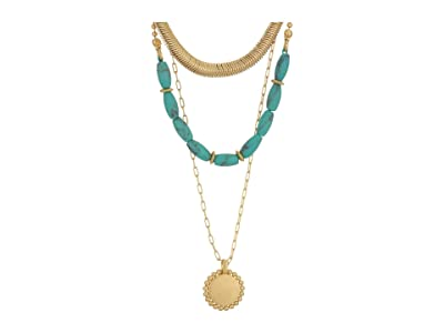 Madewell Westward Concho Necklace (Turquoise) Necklace