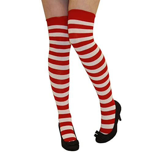 a96fb7fdeaf CRAZY CHICK New Ladies Girls Stripe Stripy Striped Over The Knee Thigh High  Long Socks Assorted