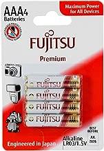 Fujitsu Alkaline Premium Batteries LR03 / AAA, Pack of 4, Blister (Made in Japan)