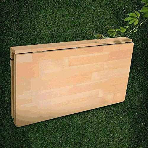 WYJW Hangende houten wandtafels, stevige en robuuste wastafel, houten standaard, 80kg standaard (afmeting: 70x40cm)