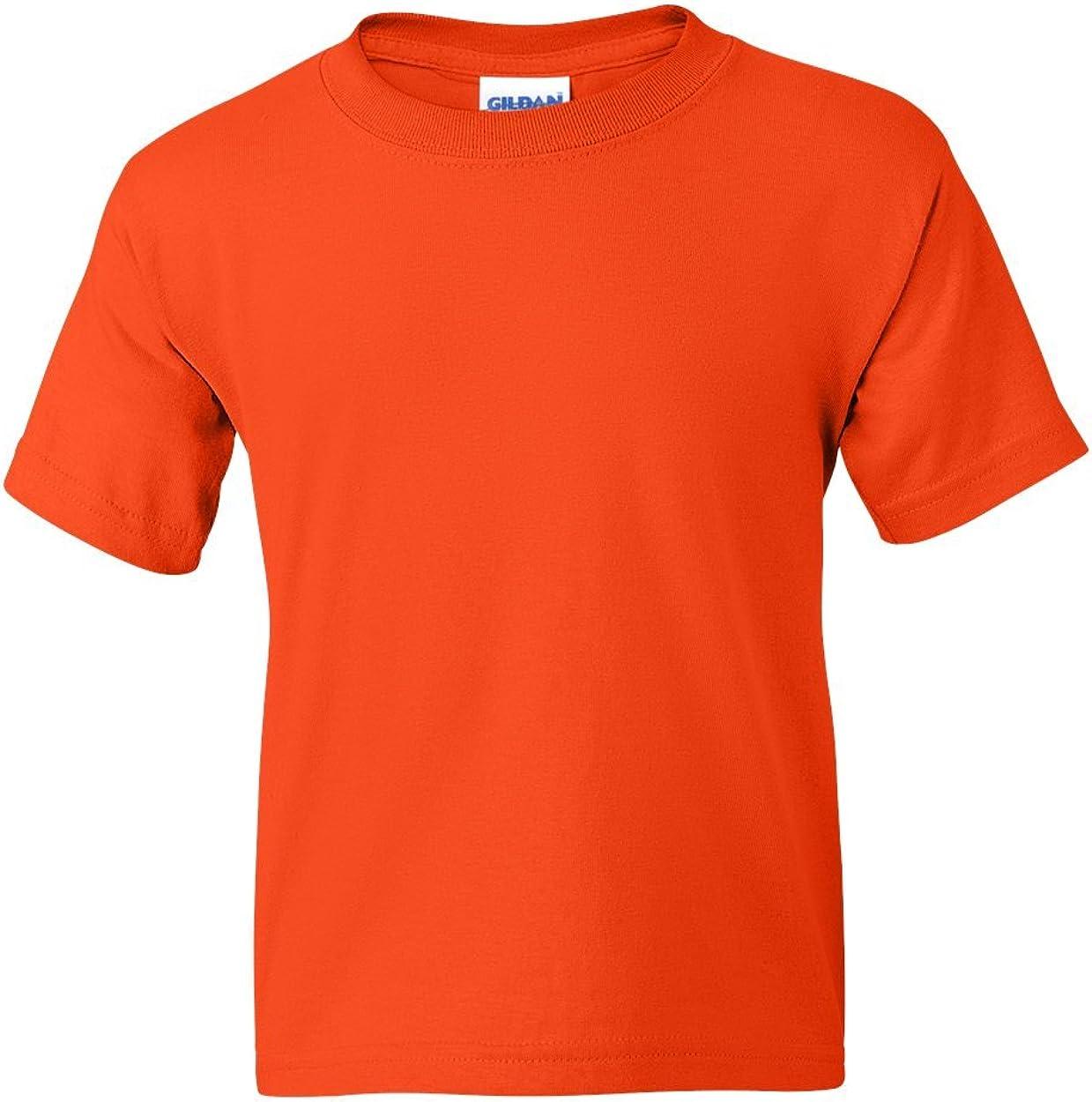 5.5 oz, 50/50 T-Shirt (G800B) Orange, M (Pack of 12)