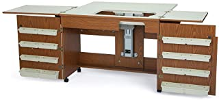 Arrow 700 Bertha Sewing Cabinet for Sturdy Sewing, Cutting, Quilting, Crafting, Portable with Wheels, Airlift, and Storag...