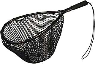 Frabill Tear Drop Trout Net with 6-Inch Fixed EVA Handle (Rubber Net), 12 x 16-Inch, Black