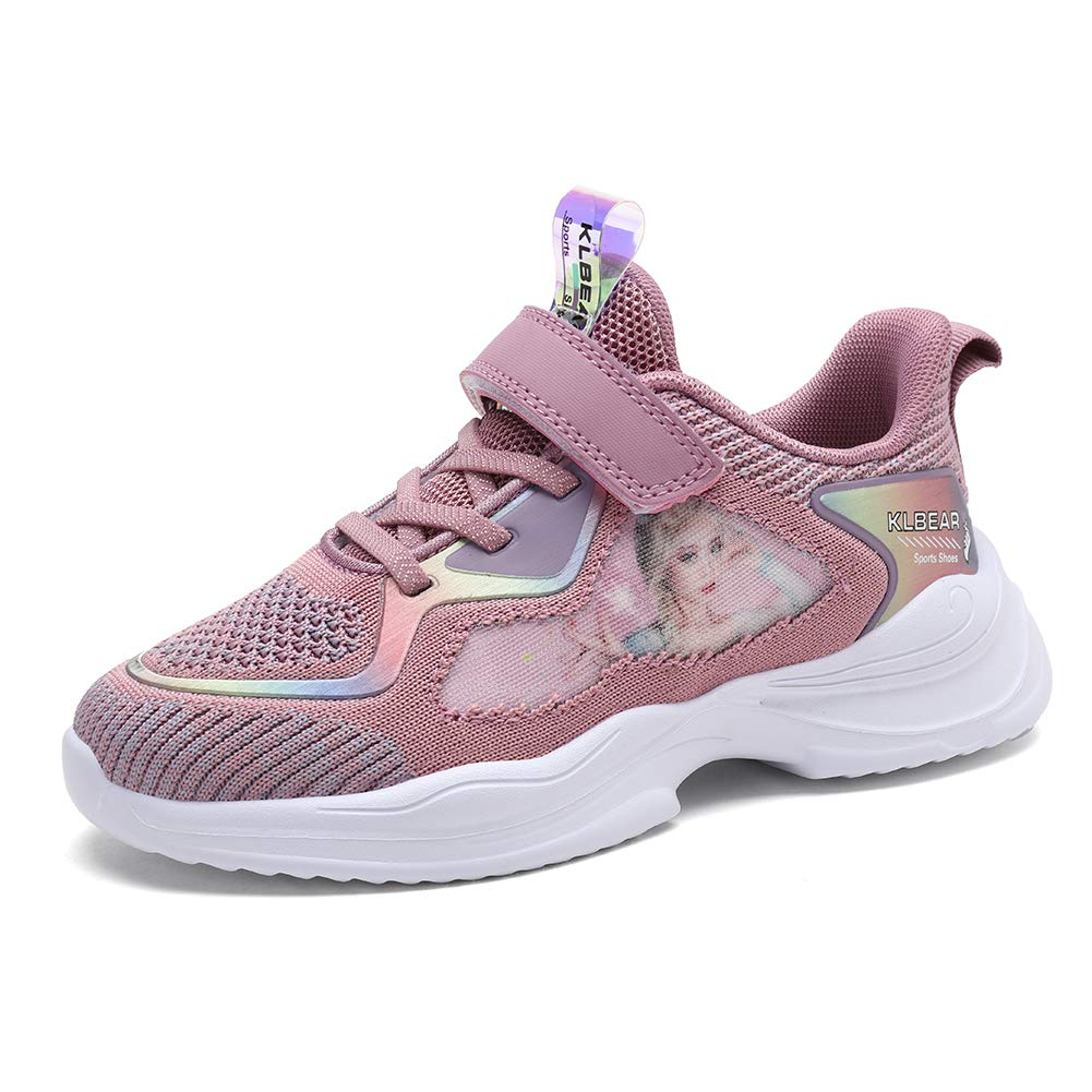 kulebear Kids Sneakers Breathable Running Tennis Shoes Walking Sport Casual Twinkle Glitter Shoes for Girls