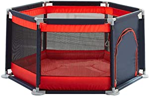 TTW Protective Fence playpens for toddler playpen baby Play Yard Home play fence playpens for babies Playmat Baby playpen baby  Color Red  Size 140 65cm