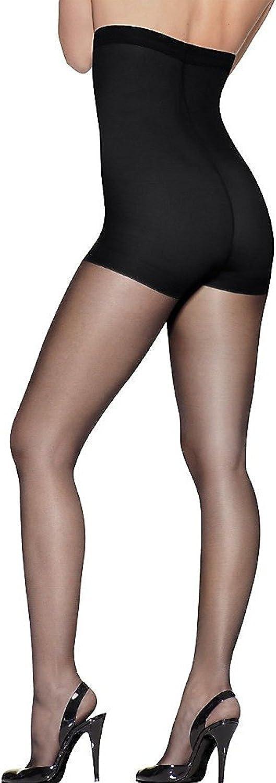 Hanes womens Silk Reflections High Waist Control Top(0B184)-Jet-AB