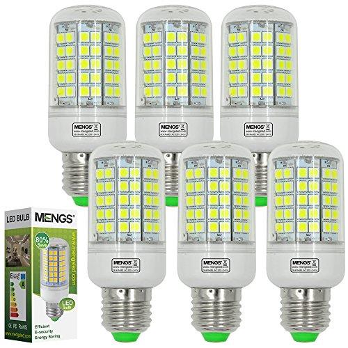 MENGS® 6 Stück E27 LED Lampe 12W AC 220-240V Kaltweiß 6500K 96x5050 SMD