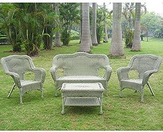 International Caravan 3180-AM-IC Furniture Four Piece Maui Outdoor Seating Group