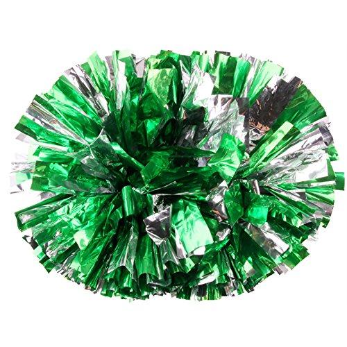 Pompons Cheerleading Cheerleader Tanzwedel Puschel Wedel Pompon Pom Pon Fenst 2Stk. (grün)