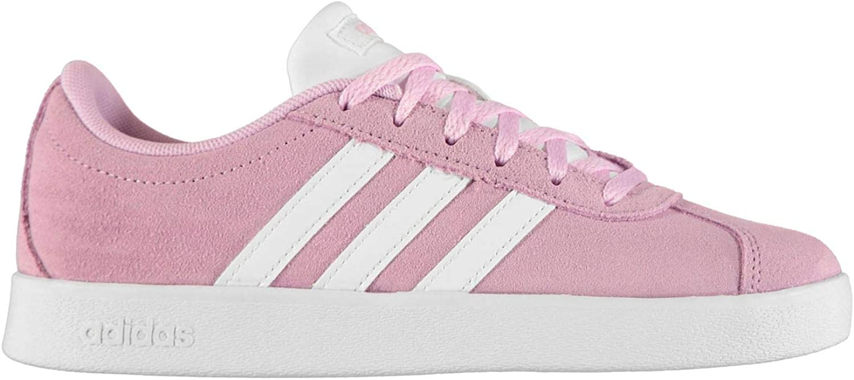 Adidas VL CORT 2.0 K Pink Suede Sneakers