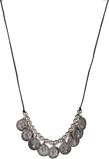 ASHI'S Collection Coin Necklace with Black Suede Cord to give a Royal Look for Women & Girls