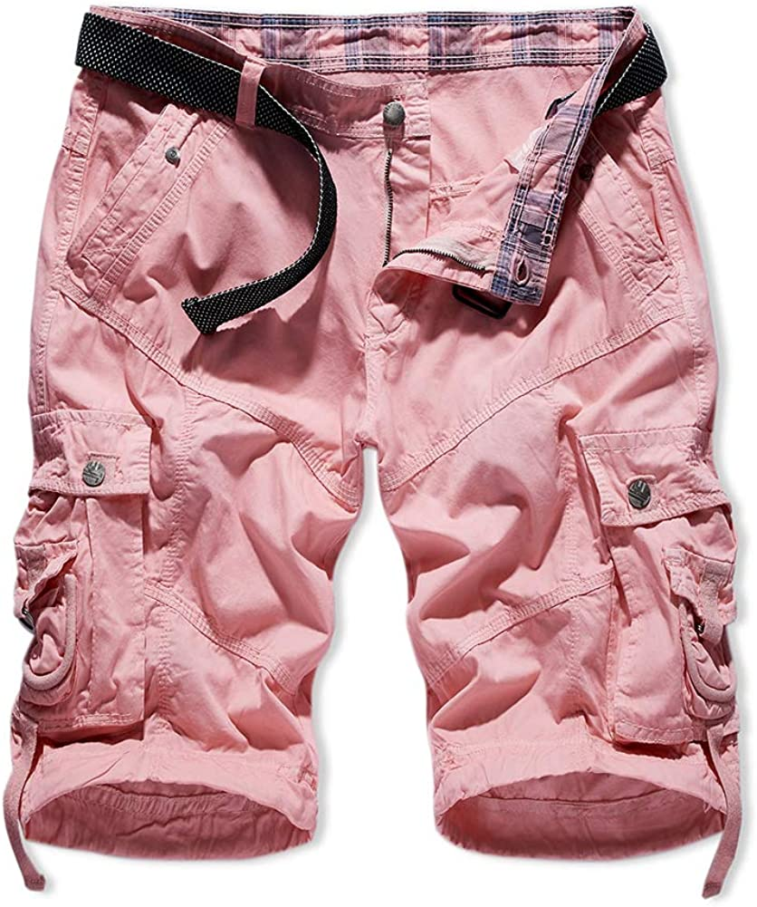 XIONG TAI Men's Cargo Shorts Camo Khaki Camouflage Short Outdoor Relaxed Fit Cotton Stretch Man(30-40)