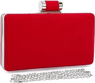 Ms Zhu Pochette r/étro pour Femme Porte-Monnaie r/étro Rouge Portefeuille Multicolore