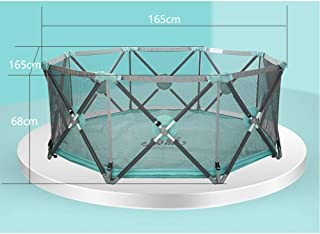 Foldable Baby Playards Breathable Mesh Prevent Rollover Hexagon Infant Playpen With Storage Bag Kids Activity Center For Indoor Outdoor Pet Fence