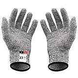 niceluke(二双組) 軍手 防刃 手袋 作業用 切れない 耐切創 ワークマン DIY 手袋 防災用品 安全防護 グレー M