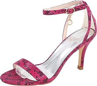Vimedea Womens Ankle Strap Dress Sexy Heeled Sandals Wedding Bride Open Toe PU 9920-04S