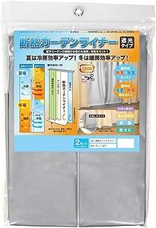 明和グラビア MEIWA 断熱カーテンライナー (遮光タイプ) 100×225cm 2枚セット グレー