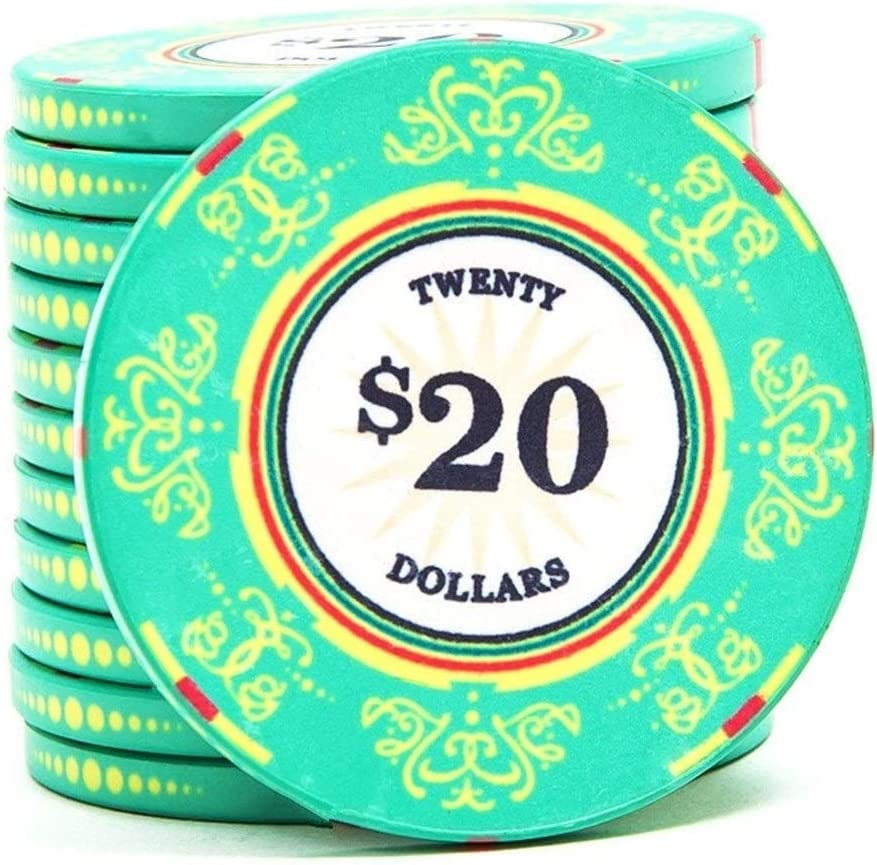 TX GIRL 1Pc Ceramics Poker Chips Hundred Chips Mahjong Family Music Flower Poker Family Music Texas Poker Chips 39mm*3.3mm