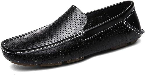 SCSY-Oxford-Schuhe Herren Classic Driving Penny Slipper Hollow Vamp Slip-on Flache Weißhe Sohle Mokassins