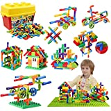 burgkidz 176 Piece Pipe Tube Toy, Sensory Water Tube Locks Construction Building Blocks, Educational Building Learning Toys with Wheels and Baseplate for All Ages Kids Boys Girls